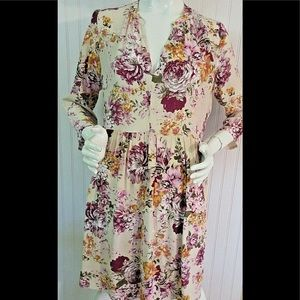 Anthropologie dress by Maeve floral print sz M